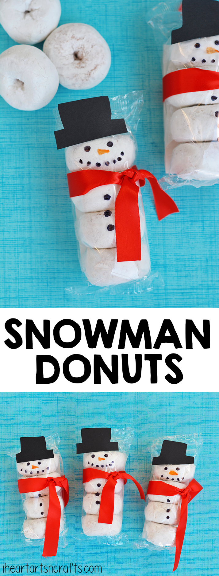 Snowman Donuts | Christmas Crafts for Kids