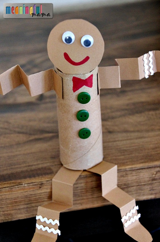 Toilet Paper Roll Gingerbread Man | Christmas Crafts for Kids