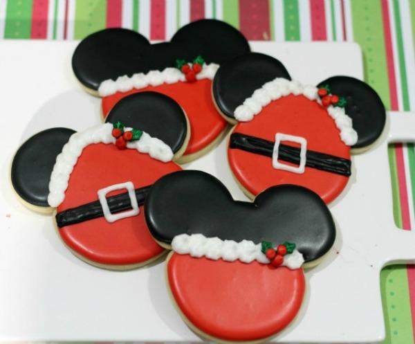 Santa & Mrs. Claus - Mickey & Minnie Cookies via TOTS Family