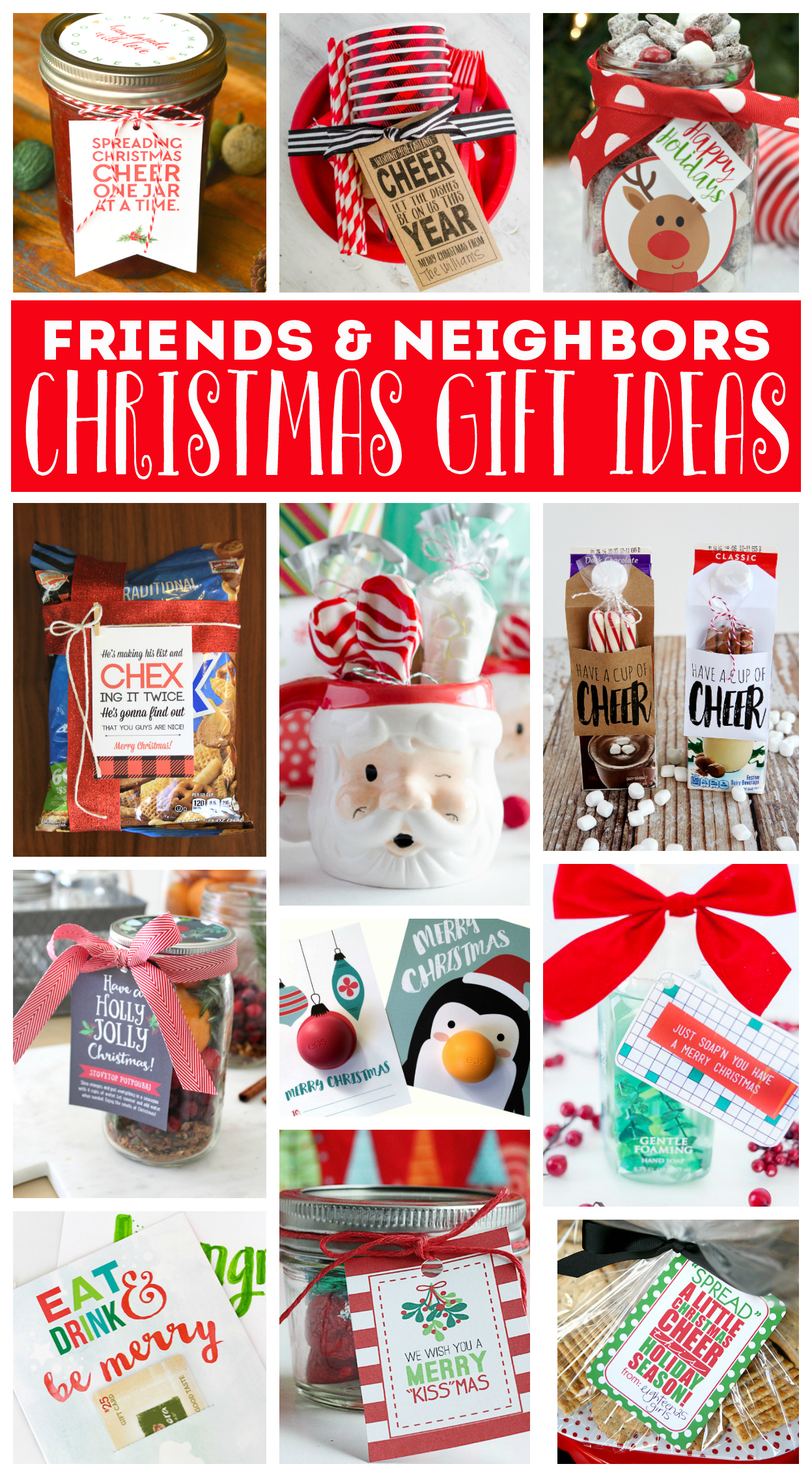 Neighbor Christmas Gifts That Are Fun, Easy to Put Together and Inexpensive!
