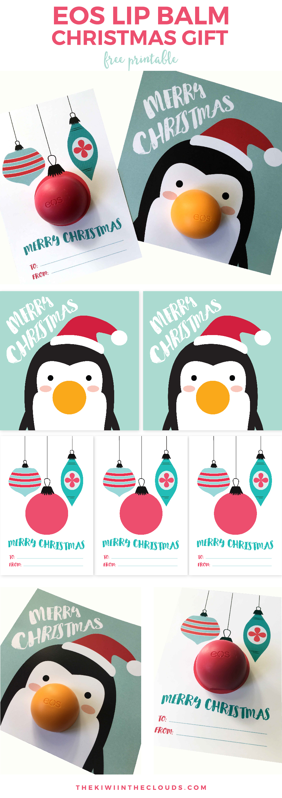 Neighbor Christmas Gift Ideas | EOS Lip Balm Christmas Gift | The Kiwi In The Clouds