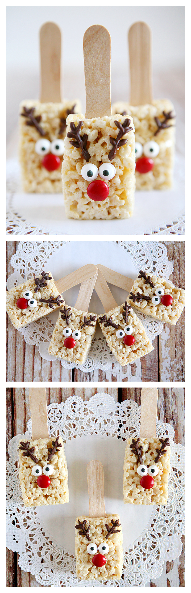 Reindeer Rice Krispies Treats - Eighteen25