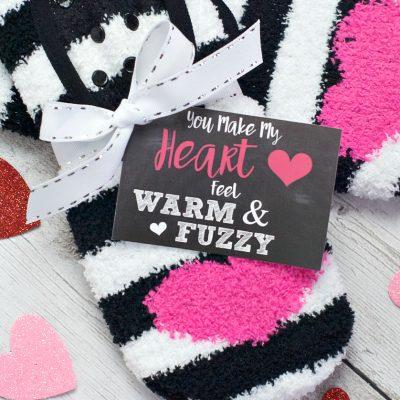 Warm and Fuzzy Sock Valentine