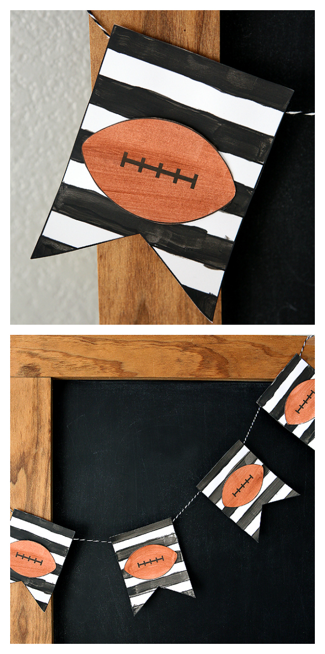 Football Banner Kid's Craft | Free printable banner that the kids can paint or color!