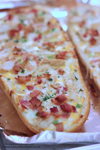 Chicken Bacon Ranch French Bread Pizza
