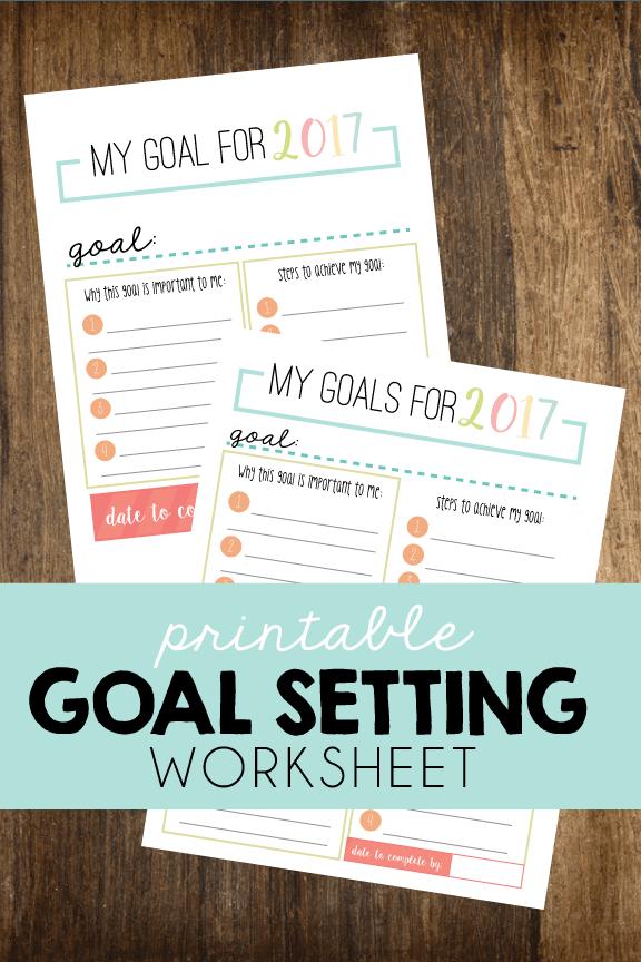 Printable Goal Setting Worksheet via Short Stop Designs