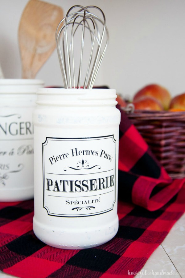 DIY Farmhouse Kitchen Canister via Houseful of Handmade