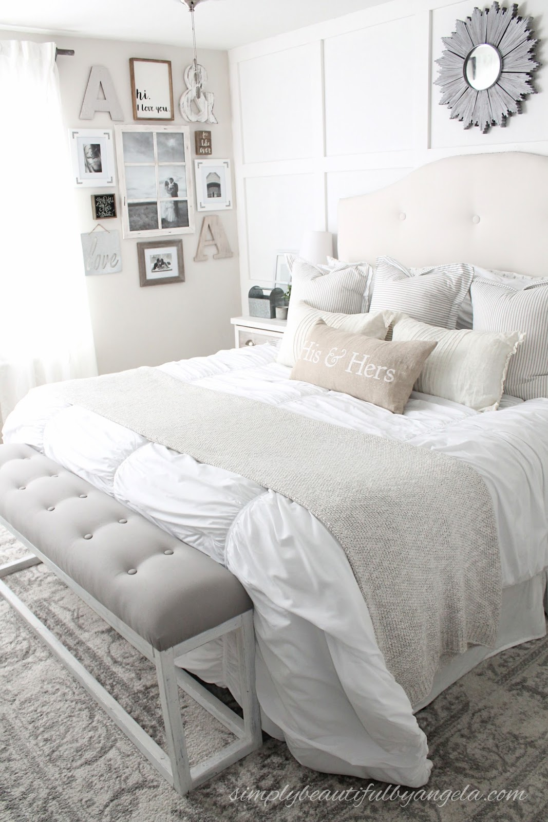DIY End of Bed Bench via Simply Beautiful by Angela