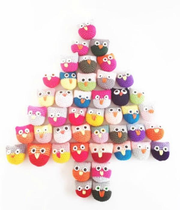Crocheted Owls via Annemarie's Haakblog