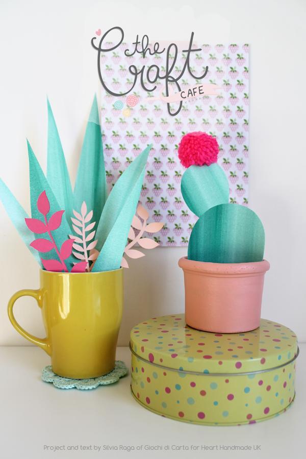 How to make Pretty Paper Plants via Heart Handmade
