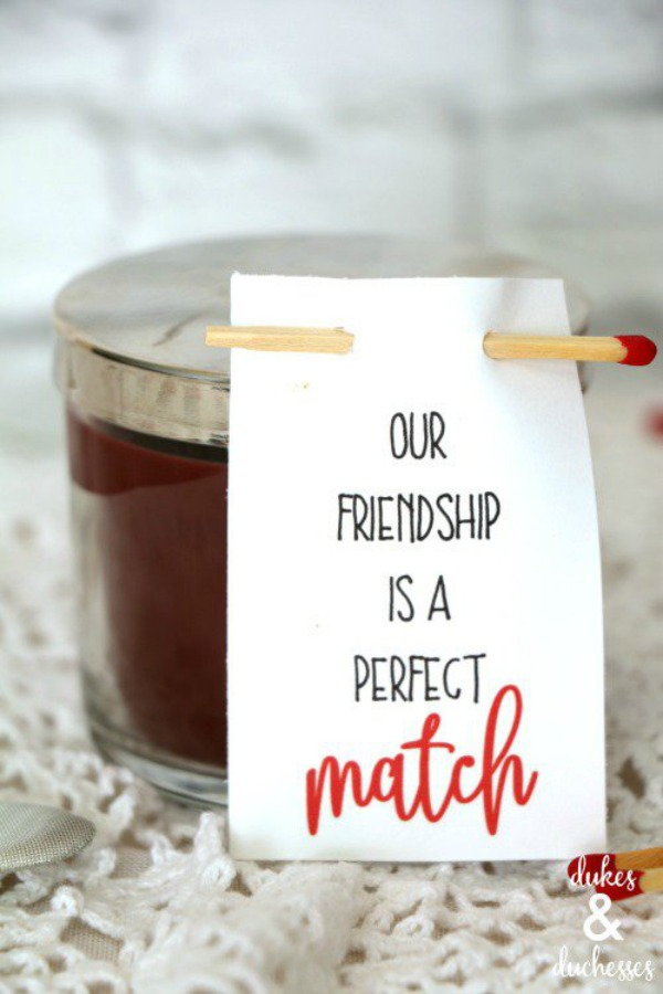 Perfect Match Candle Valentine via Dukes & Duchesses