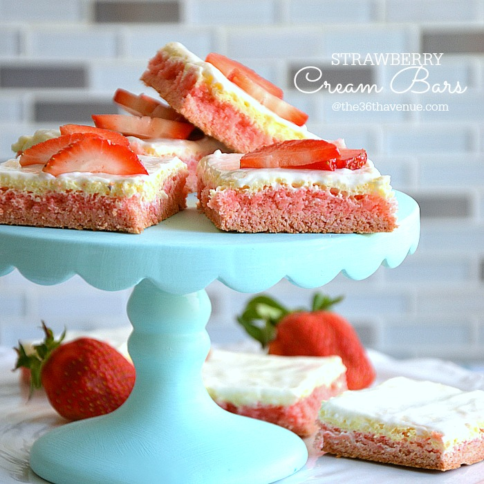 Strawberry Cream Bars from The 36th Avenue