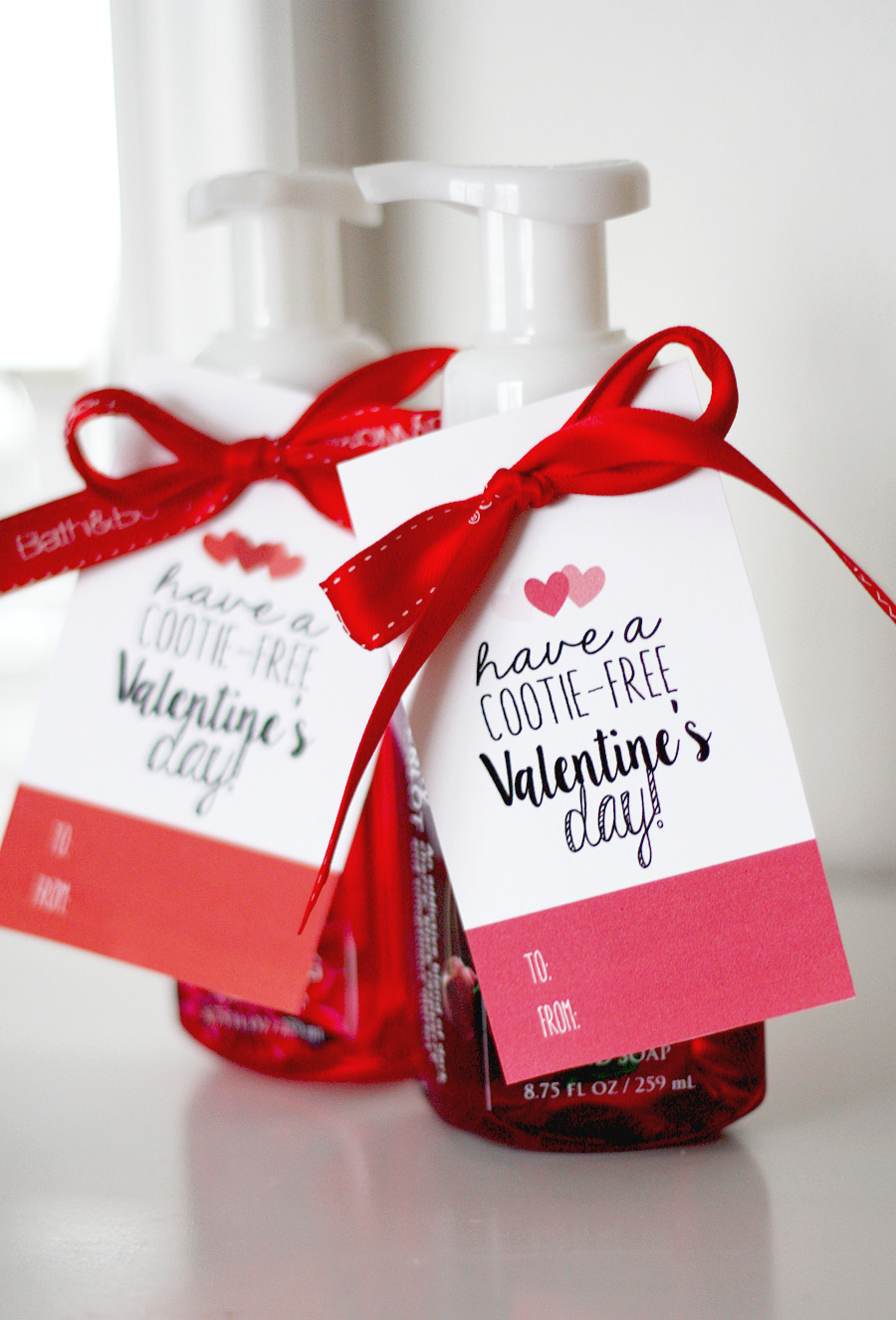 Have a Cootie-Free Valentine's Day! | Free Printable Valentine's Day Tag