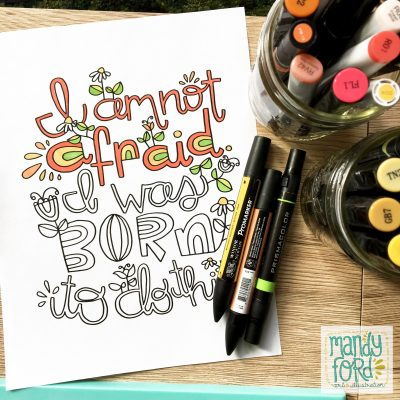 Born To Do This Coloring Page