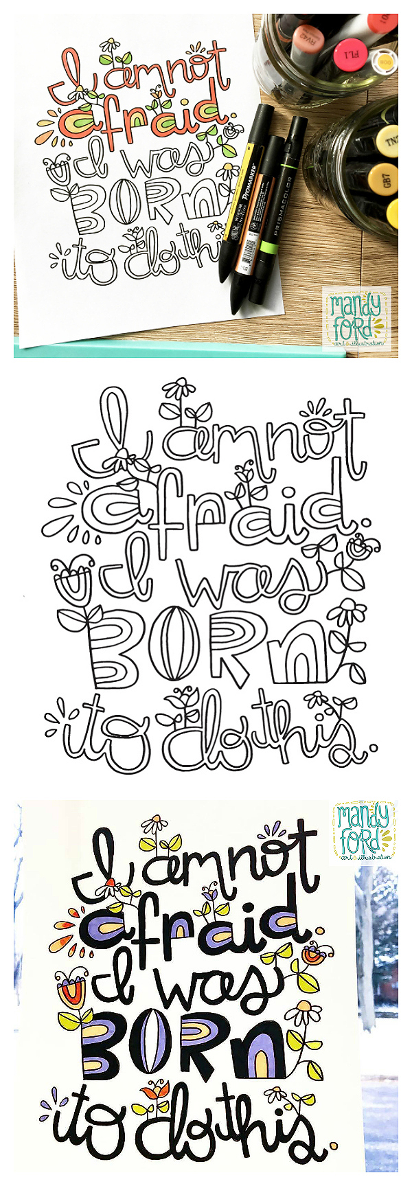 I am not afraid. I was born to do this. | Free Printable Coloring Page