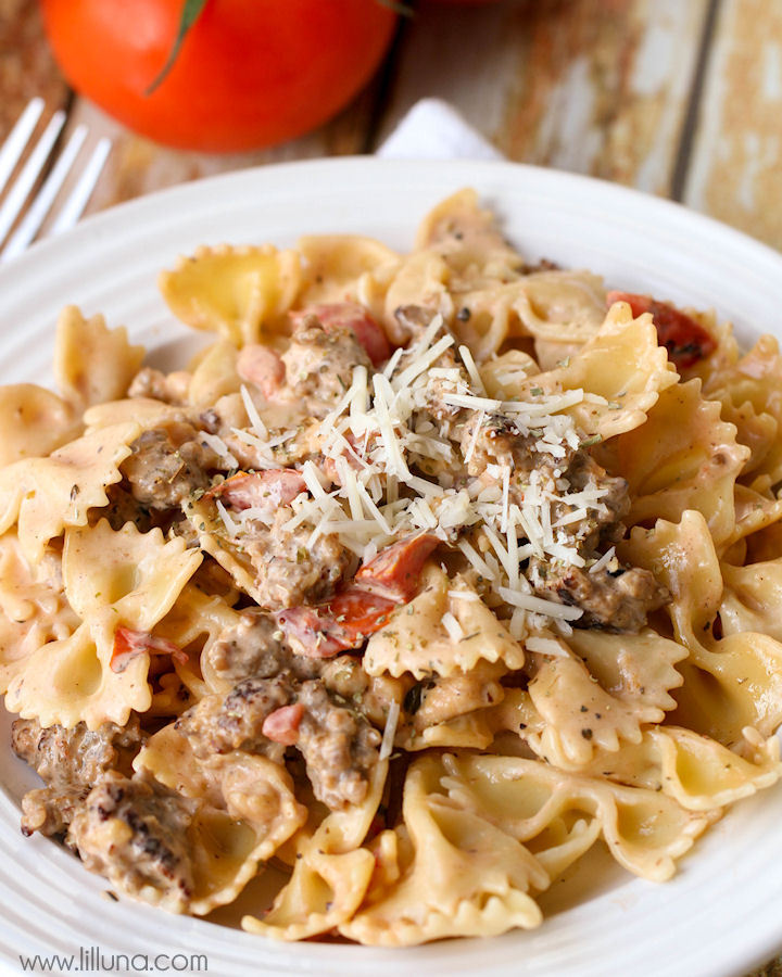 Bowtie Pasta with Italian Sausage from Lil' Luna