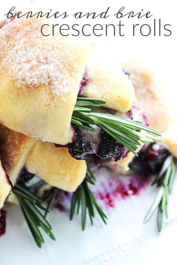 Berry & Brie Crescent Rolls from A Dash of Sanity