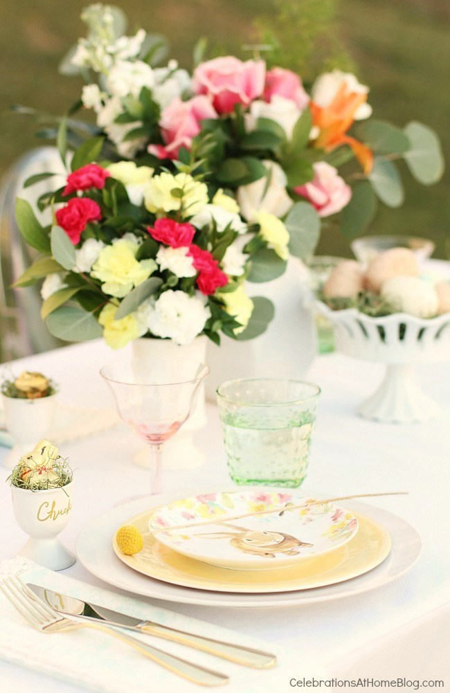 Easter Tablescape from Celebrations at Home