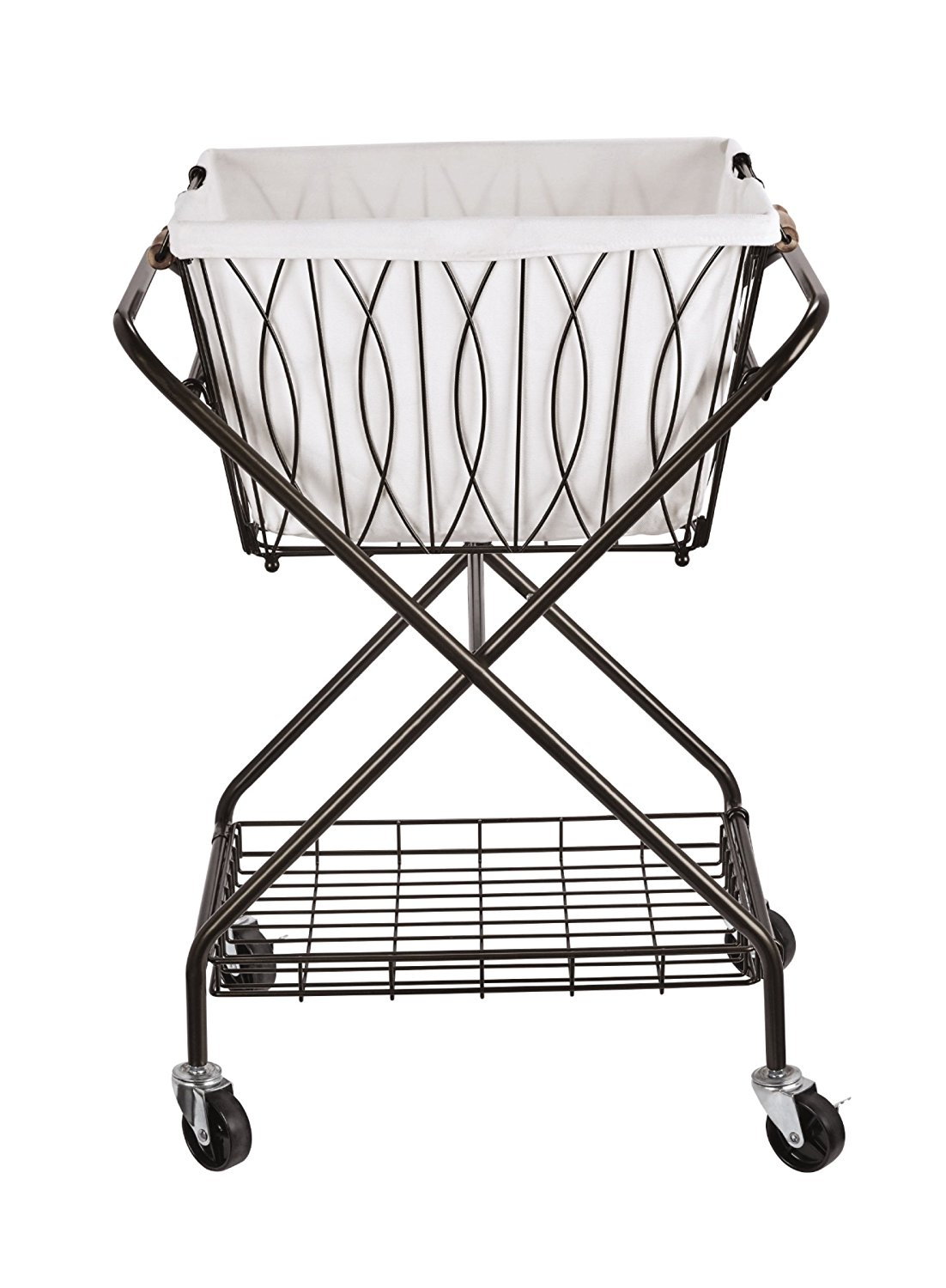 Farmhouse Finds on Amazon | Metal Laundry Cart
