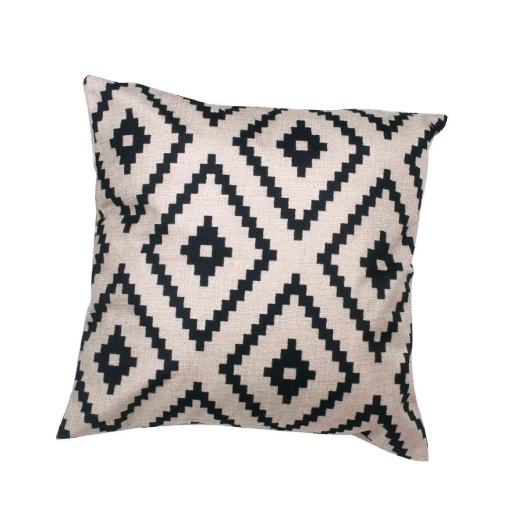 Farmhouse Finds on Amazon | Geometric Black and White Throw Pillow