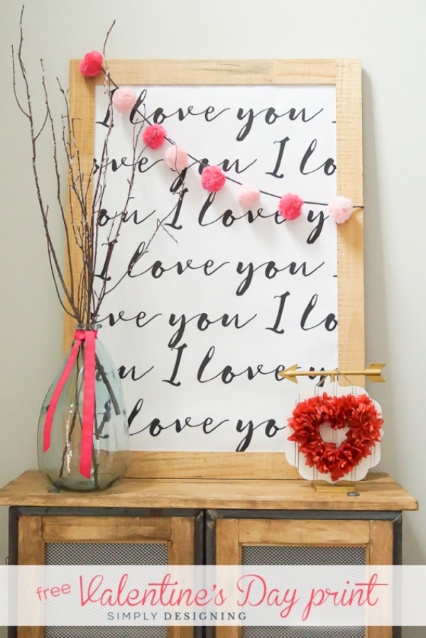 Valentine's Day Print via Simply Designing