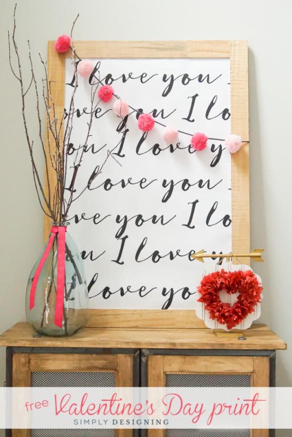 Valentine's Day Print via Simply Designing