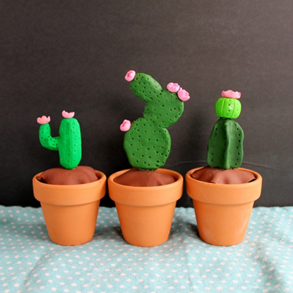 DIY Clay Cactus via The Country Chic Cottage