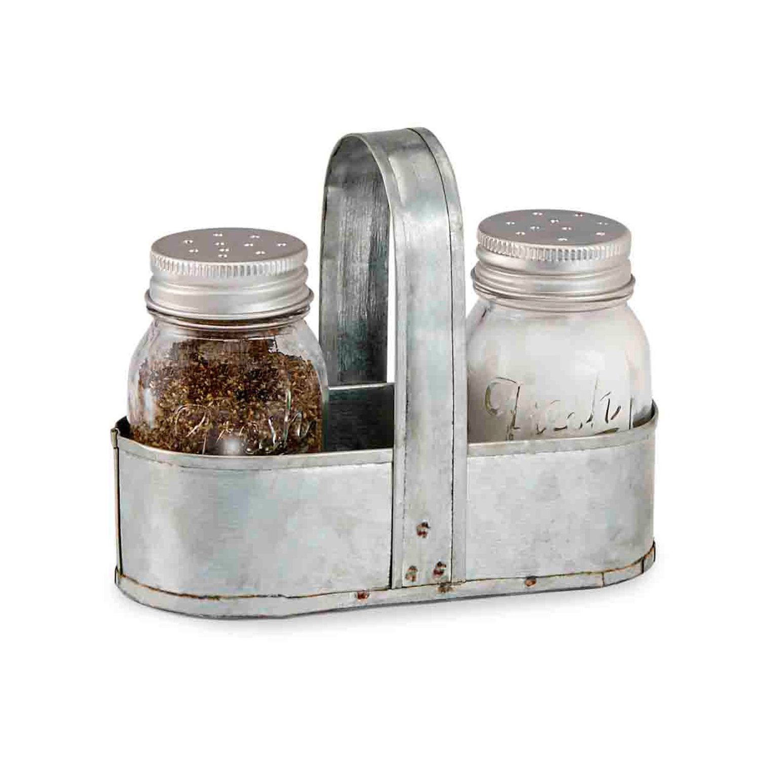 Farmhouse Home Decor | Salt and Pepper Caddy