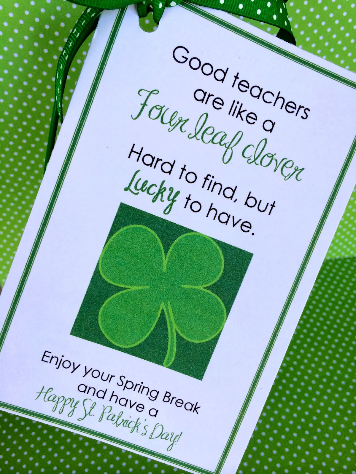 Good Teacher's Are Like Four Leaf Clovers | Marci Coombs