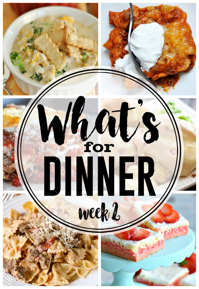 What's For Dinner Week 2 | Meal Planning