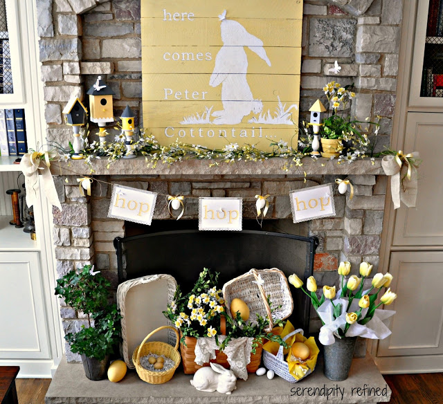 18 Spring Decor Ideas: Pretty Easter Mantel Decorations