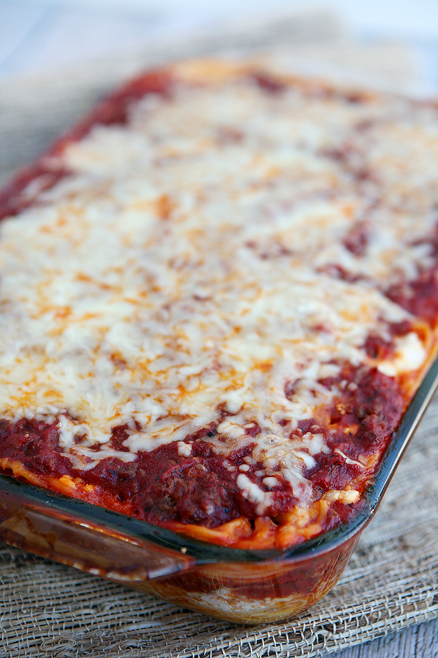 Yummy Baked Spaghetti. Easy to put together and tastes great!