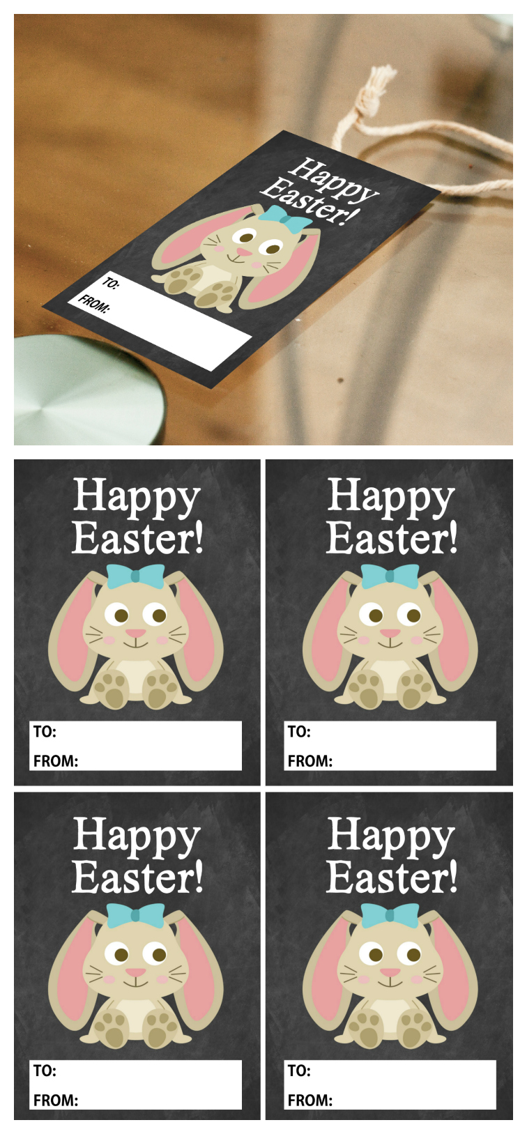 Printable Happy Easter Tags | Easter Printables