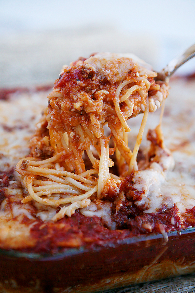 Easy Cheesy Baked Spaghetti Recipe