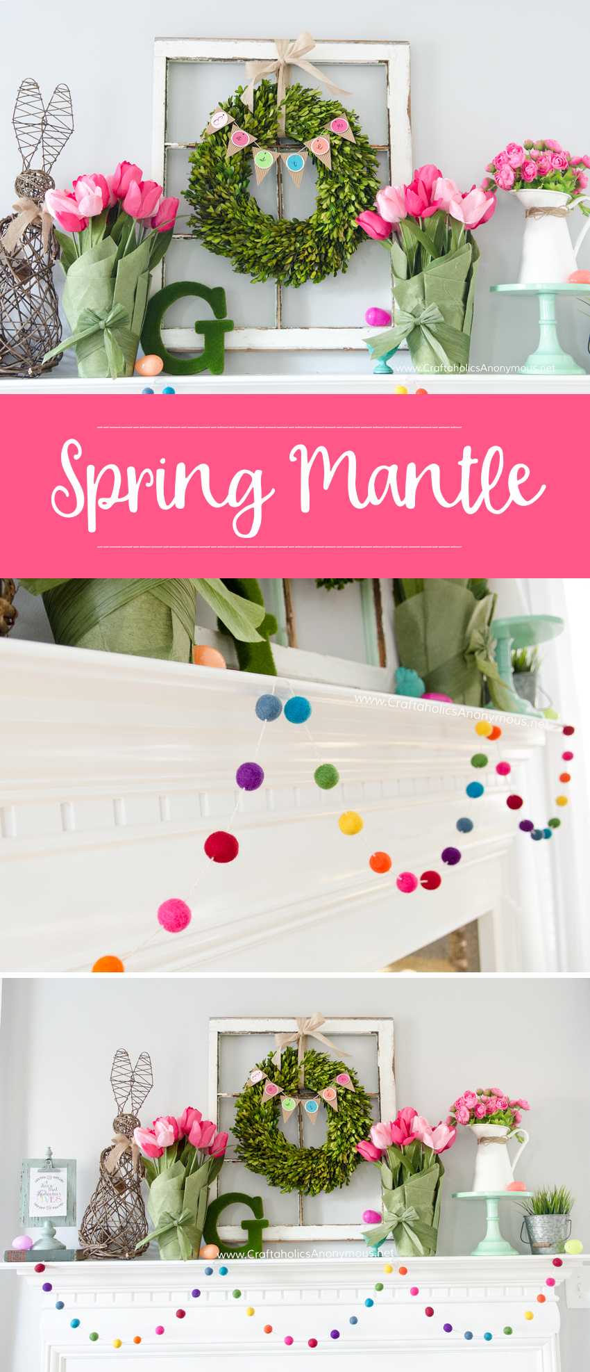 Pretty Easter Mantel Ideas | Easter Decorations