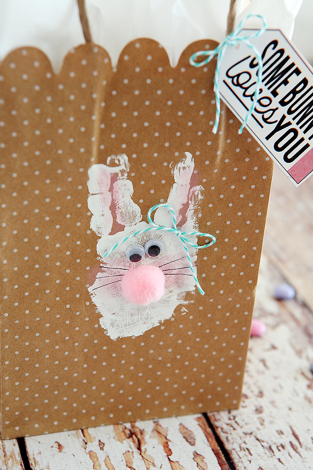 Handprint Bunny Bags | Easter Kids Craft