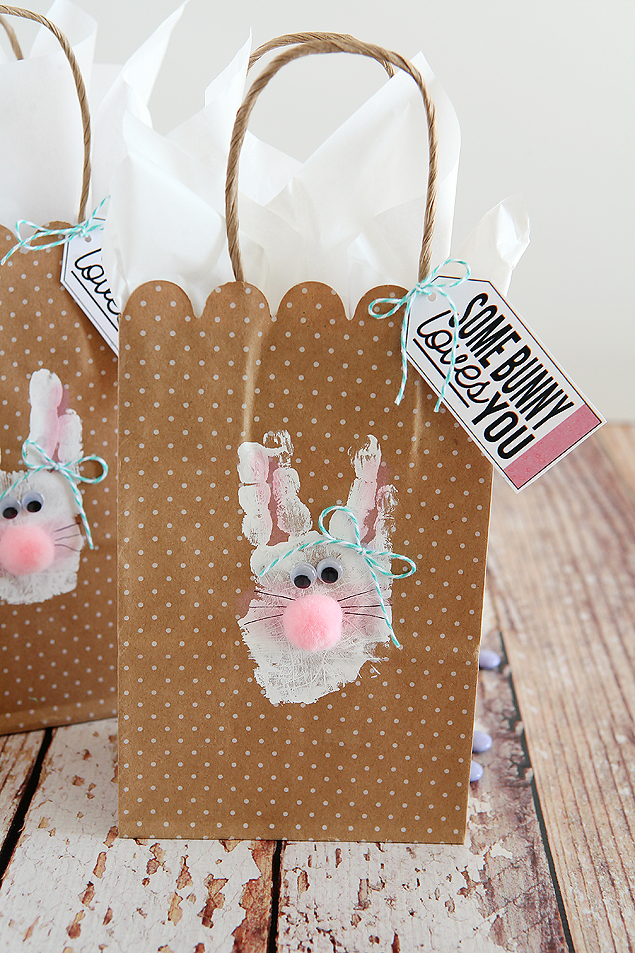 Handprint Bunny Bags | Easter Kids Craft