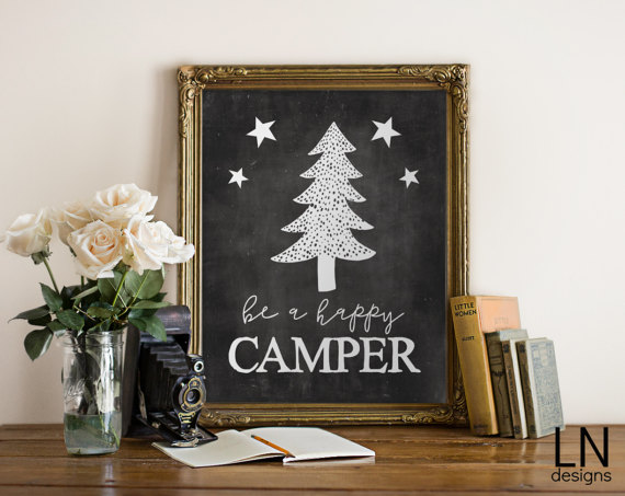 Be A Happy Camper Print