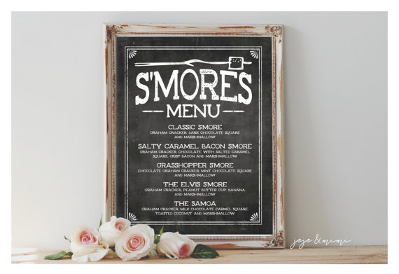 Custom S'Mores Menu