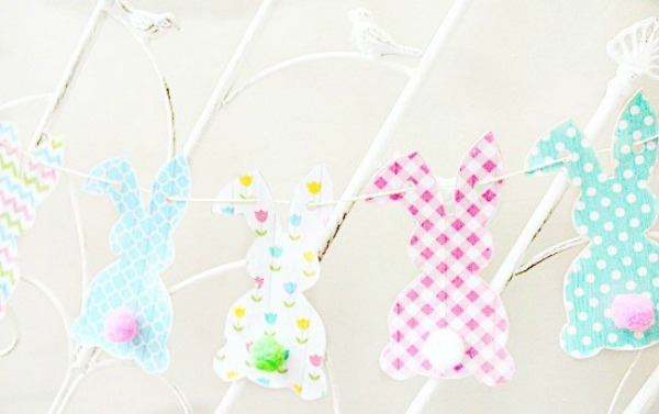 Free Printable Bunny Banner via Faeries and Fauna