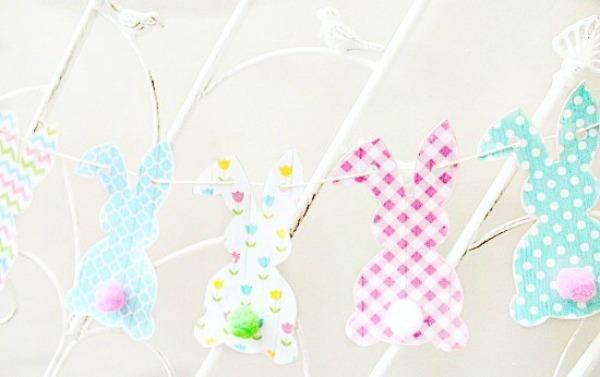 Free Printable Bunny Banner via Faeries and Fauna