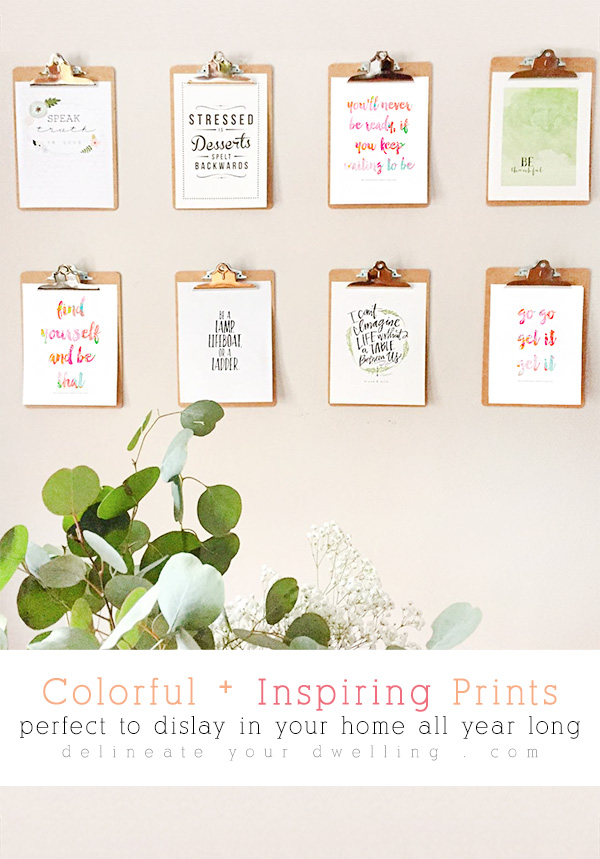 Colorful and Inspiring Prints via Delineate Your Dwelling