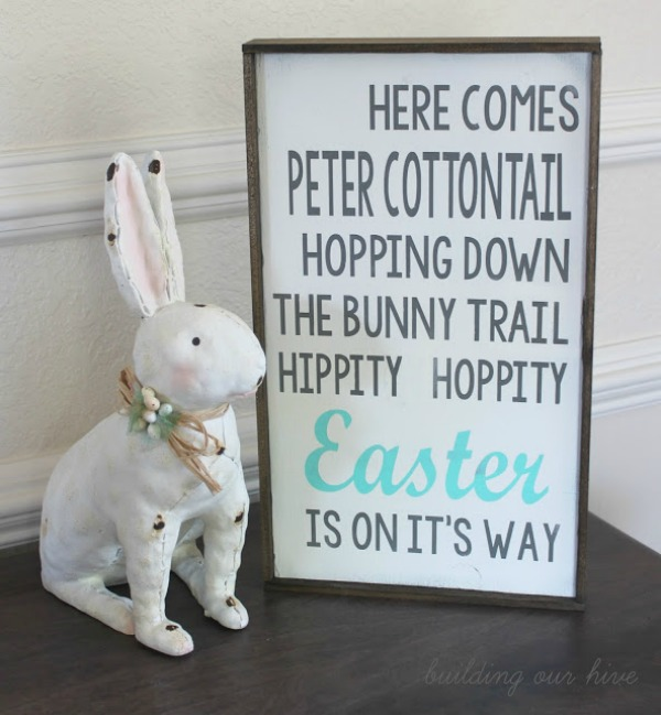 DIY Lettered Easter Sign via Building Our Hive
