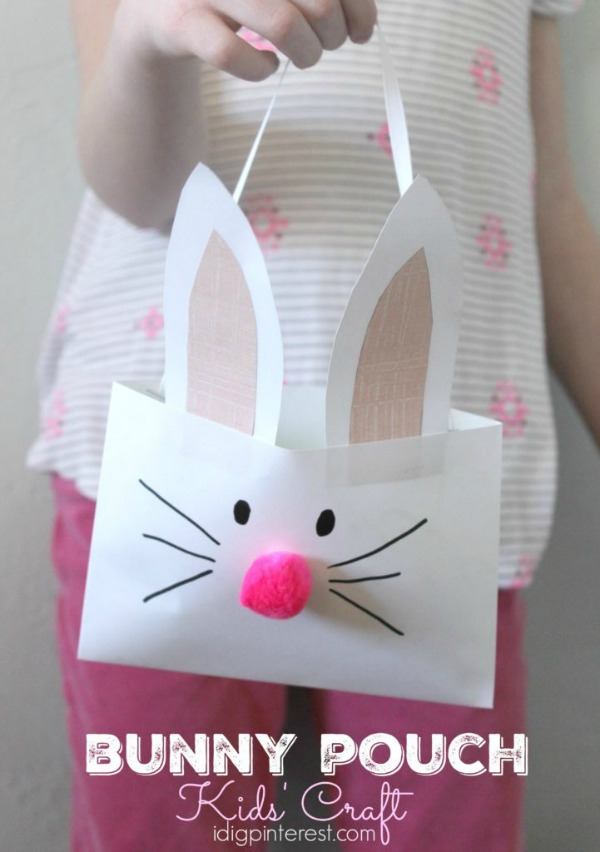 Bunny Pouch Kids' Craft via I Dig Pinterest