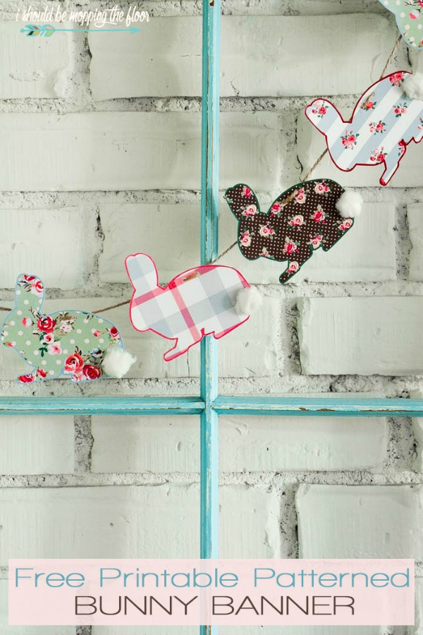 Printable Bunny Banner via I should be Mopping the Floor