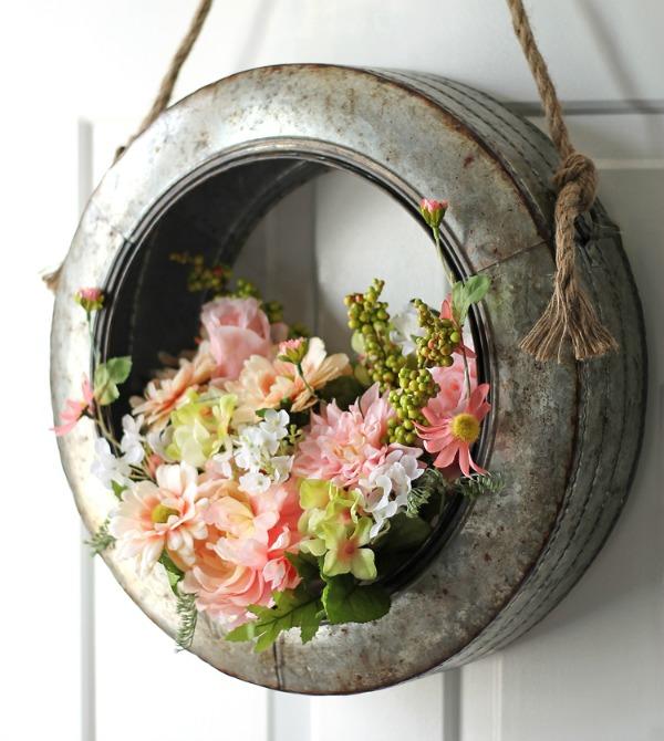 Farmhouse Style DIY Spring Wreath via The Craft Patch