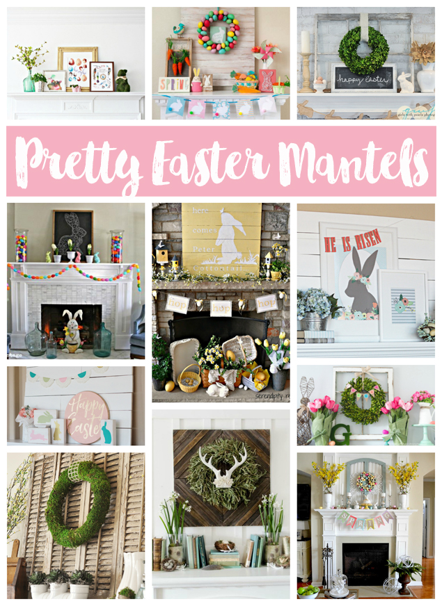 Pretty Easter Mantel Decorations Eighteen25