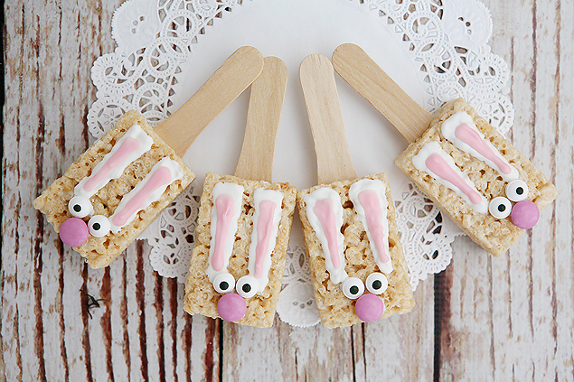 bunny rice krispie treats easter