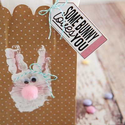 Handprint Bunny Bags
