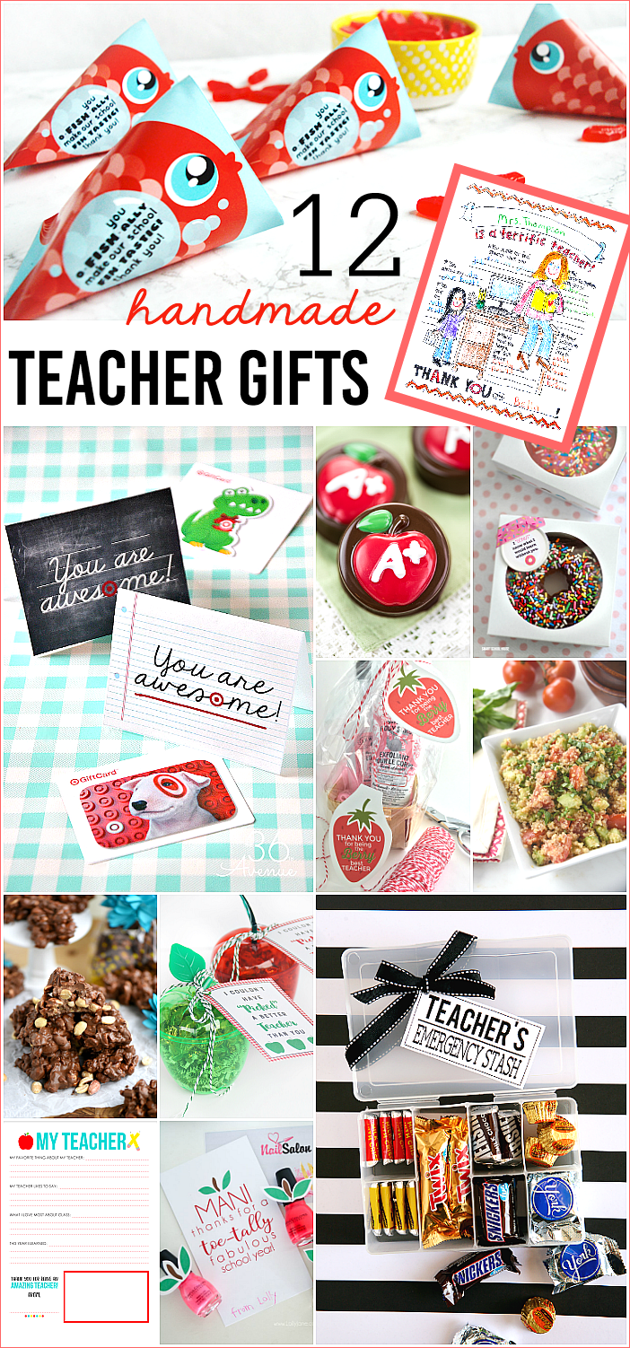 12 Handmade Teacher Gifts | Teacher Appreciation Gift Ideas